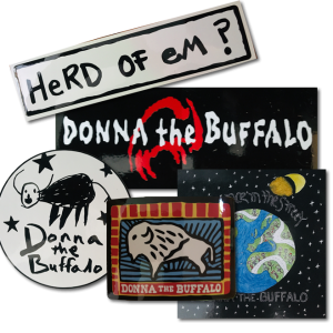 Donna The Buffalo Sticker Collage